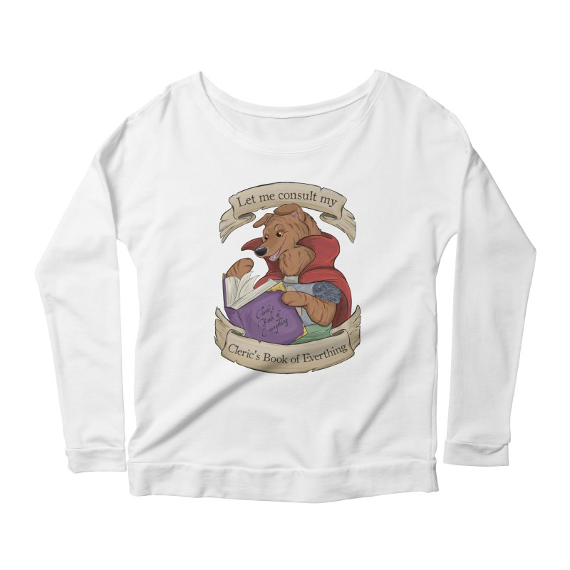Cleric's Book of Everything Women's Scoop Neck Longsleeve T-Shirt by DnDoggos's Artist Shop