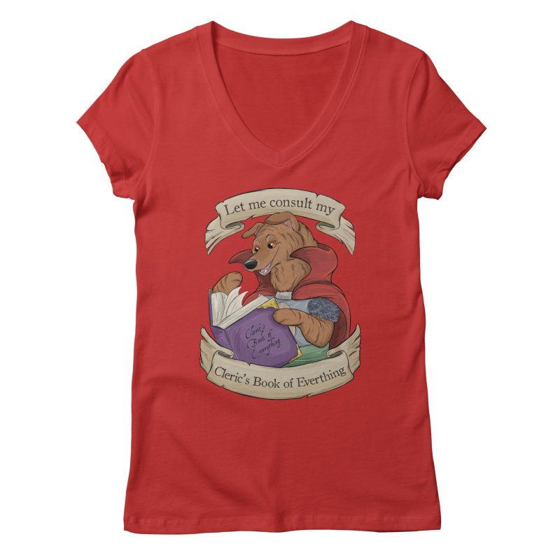 Cleric's Book of Everything Women's Regular V-Neck by DnDoggos's Artist Shop