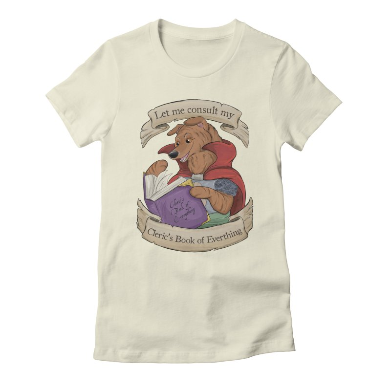 Cleric's Book of Everything Women's Fitted T-Shirt by DnDoggos's Artist Shop