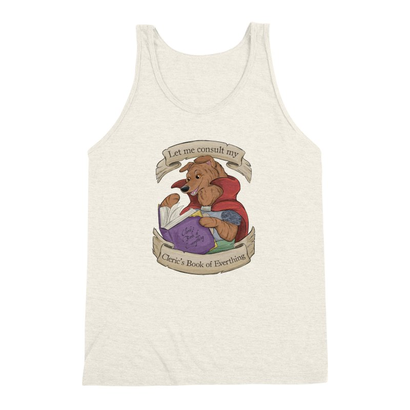 Cleric's Book of Everything Men's Triblend Tank by DnDoggos's Artist Shop