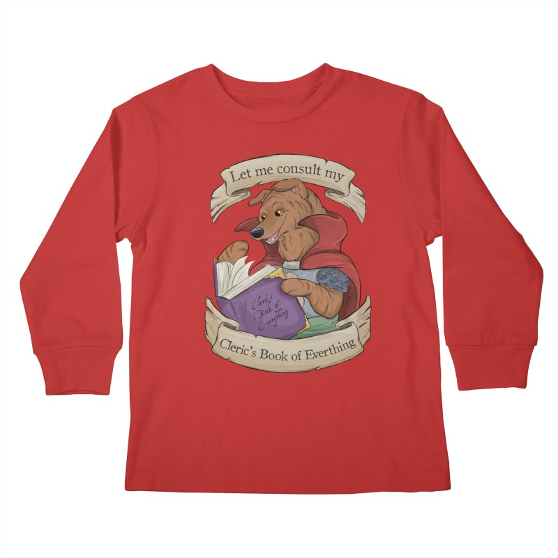 Cleric's Book of Everything Kids Longsleeve T-Shirt by DnDoggos's Artist Shop
