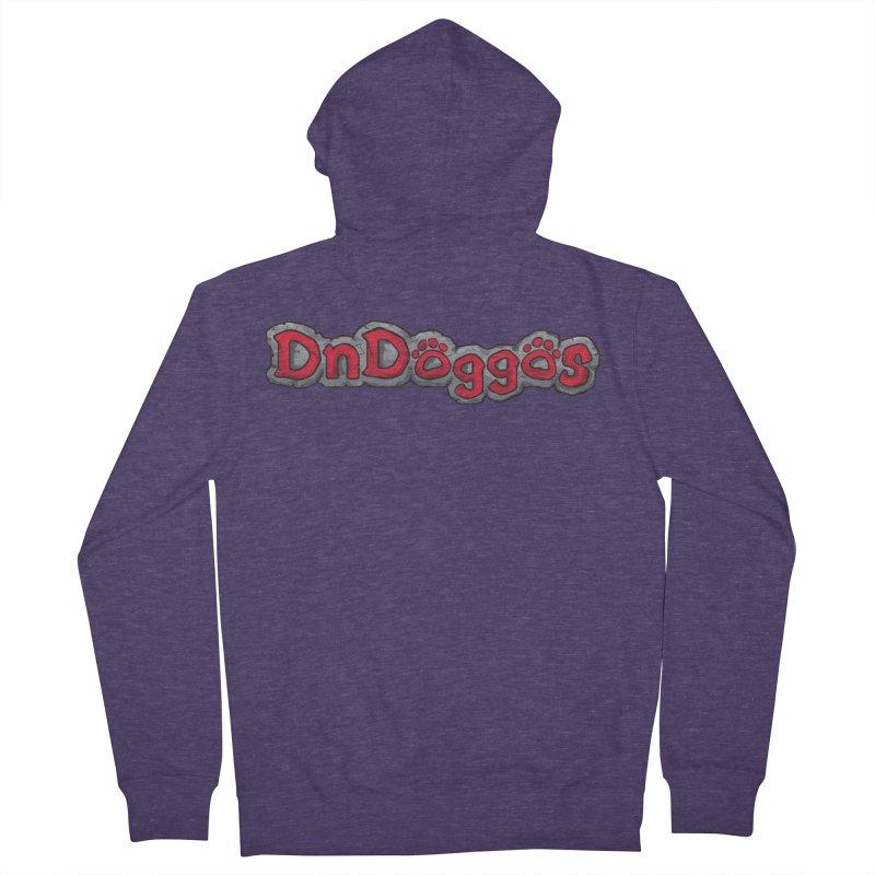DnDoggos Logo Men's French Terry Zip-Up Hoody by DnDoggos's Artist Shop
