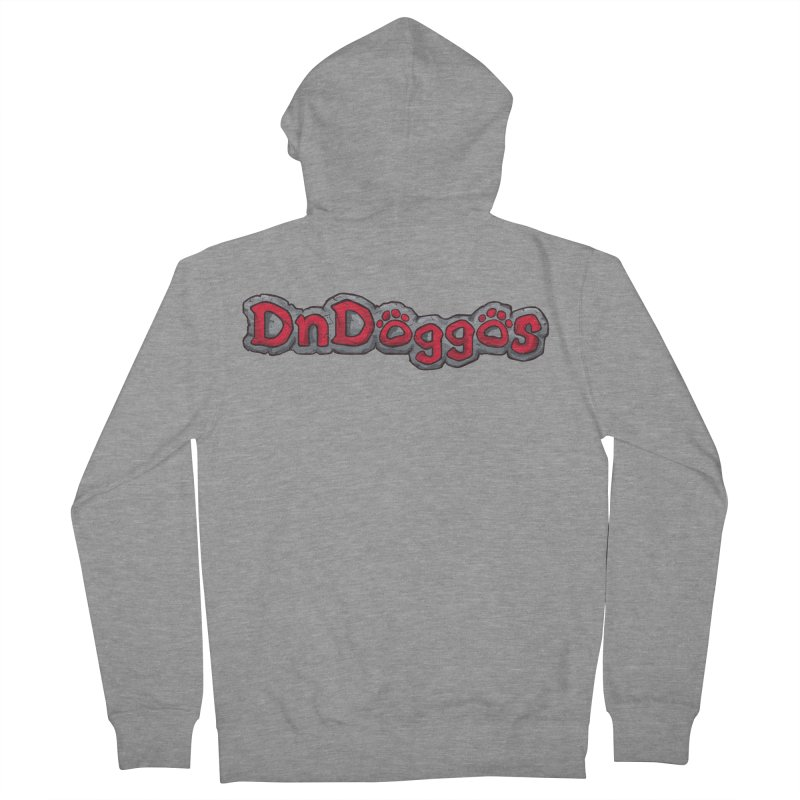 DnDoggos Logo Men's French Terry Zip-Up Hoody by DnDoggos's Artist Shop