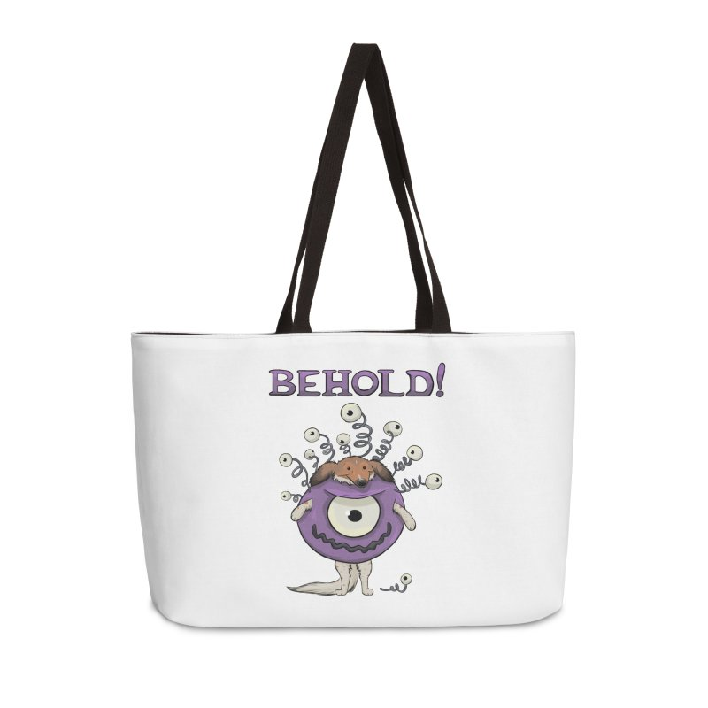 BEHOLD!! Accessories Weekender Bag Bag by DnDoggos's Artist Shop