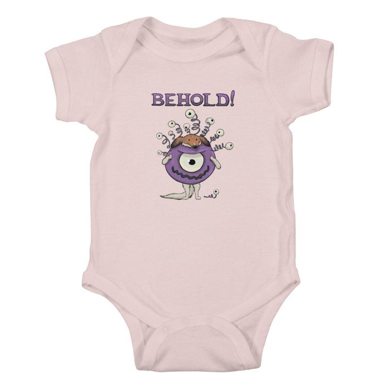 BEHOLD!! Kids Baby Bodysuit by DnDoggos's Artist Shop