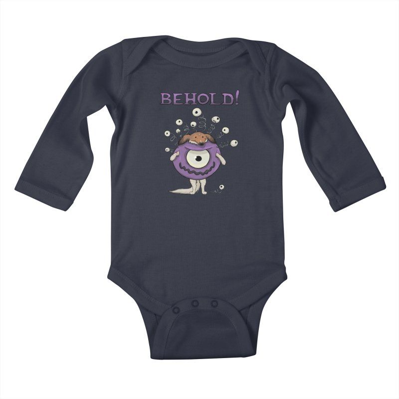 BEHOLD!! Kids Baby Longsleeve Bodysuit by DnDoggos's Artist Shop