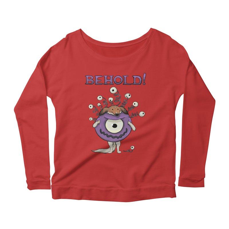 BEHOLD!! Women's Scoop Neck Longsleeve T-Shirt by DnDoggos's Artist Shop