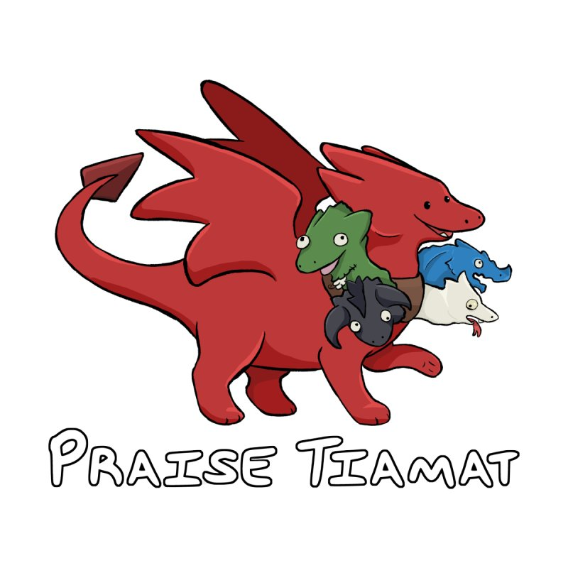 Praise Tiamat Accessories Sticker by DnDoggos's Artist Shop