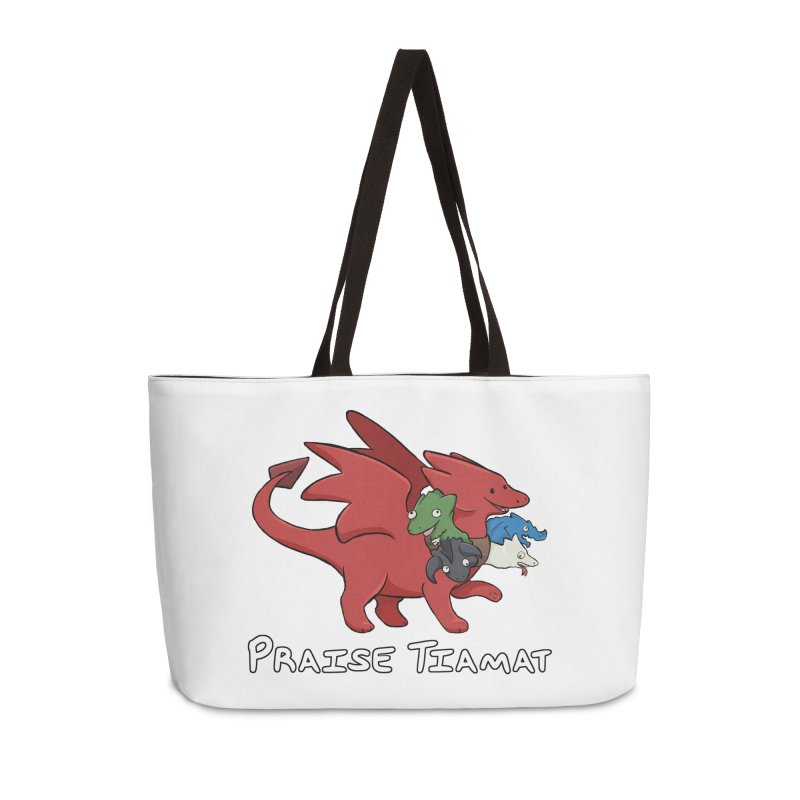 Praise Tiamat Accessories Weekender Bag Bag by DnDoggos's Artist Shop