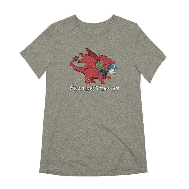 Praise Tiamat Women's Extra Soft T-Shirt by DnDoggos's Artist Shop