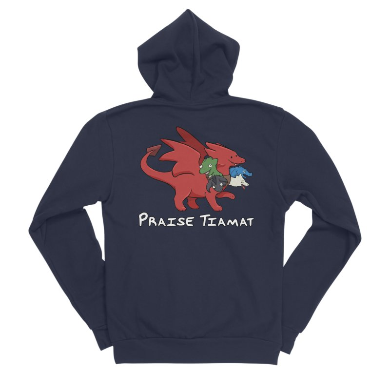 Praise Tiamat Men's Sponge Fleece Zip-Up Hoody by DnDoggos's Artist Shop