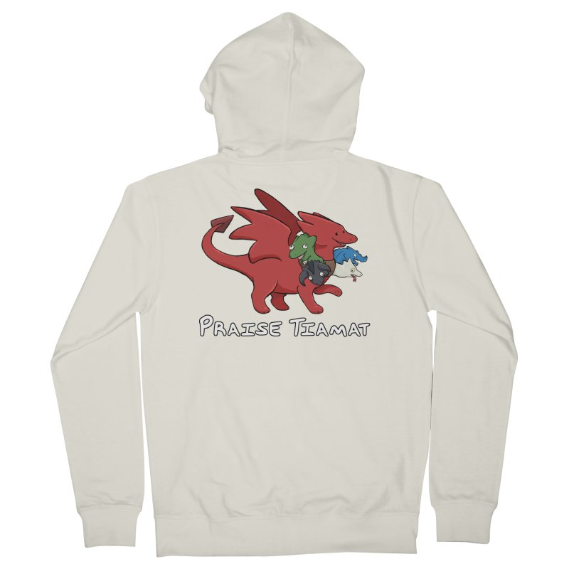 Praise Tiamat Men's French Terry Zip-Up Hoody by DnDoggos's Artist Shop