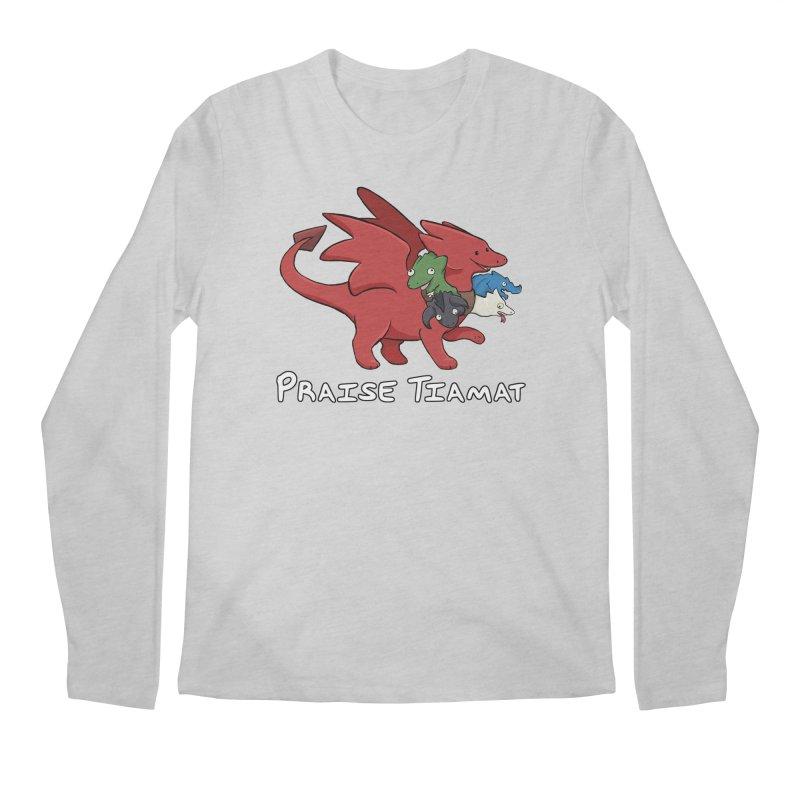 Praise Tiamat Men's Regular Longsleeve T-Shirt by DnDoggos's Artist Shop