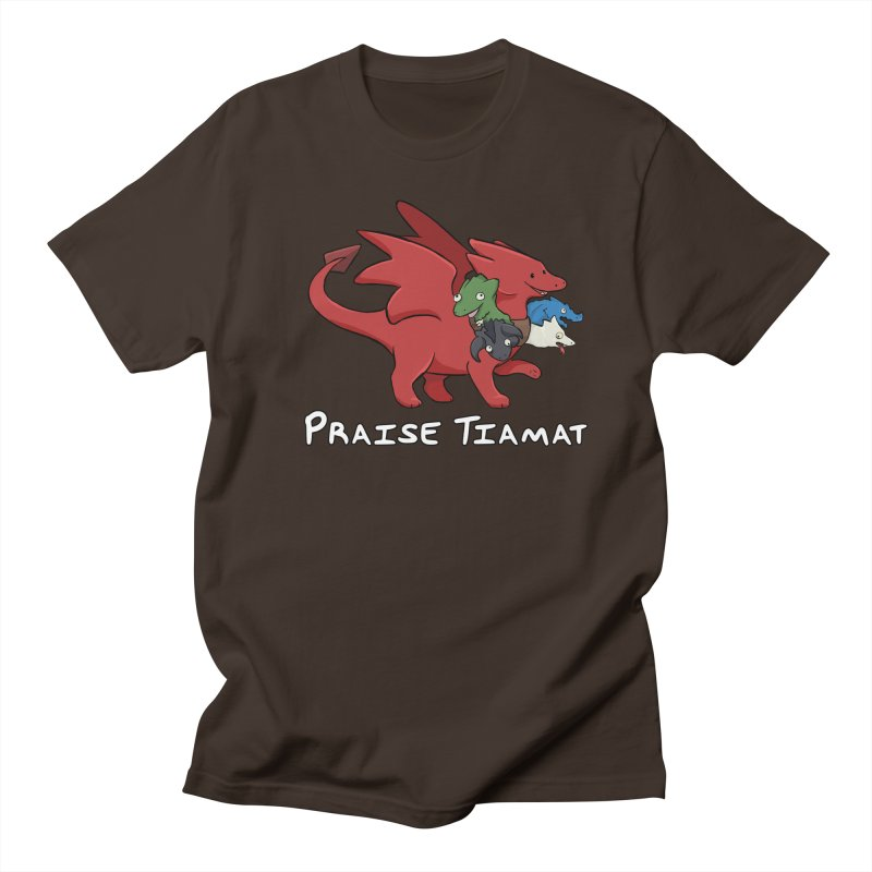 Praise Tiamat Men's Regular T-Shirt by DnDoggos's Artist Shop