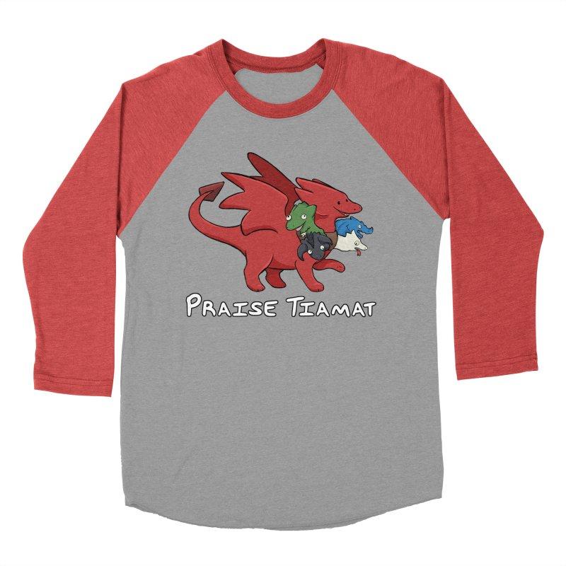 Praise Tiamat Men's Baseball Triblend Longsleeve T-Shirt by DnDoggos's Artist Shop