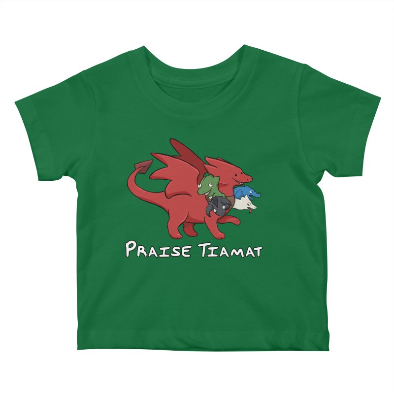 Praise Tiamat Kids Baby T-Shirt by DnDoggos's Artist Shop