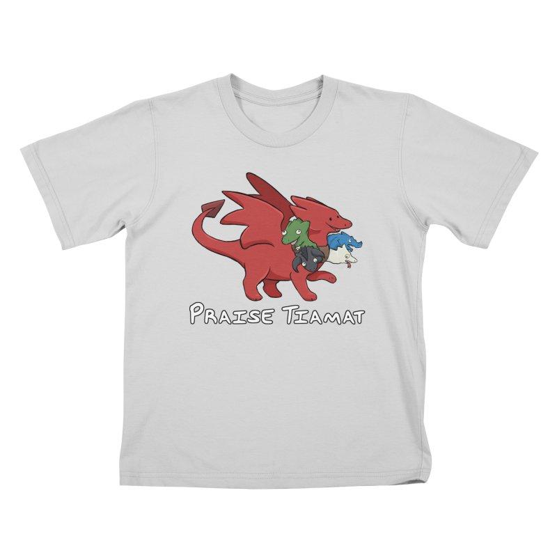 Praise Tiamat Kids T-Shirt by DnDoggos's Artist Shop