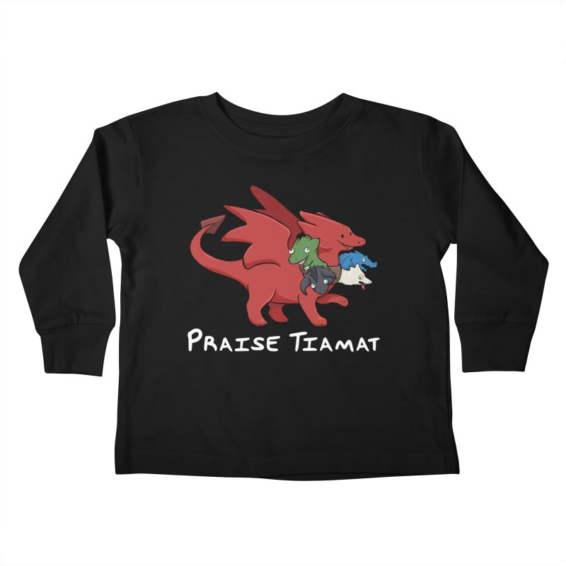 Praise Tiamat Kids Toddler Longsleeve T-Shirt by DnDoggos's Artist Shop