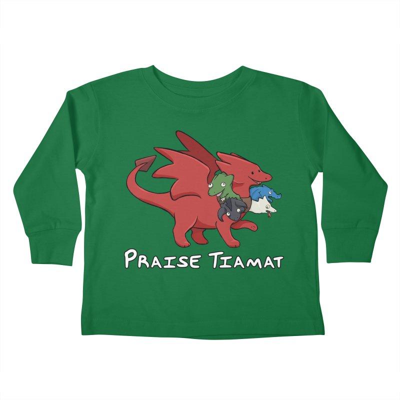 Praise Tiamat Kids Toddler Longsleeve T-Shirt by DnDoggos's Artist Shop