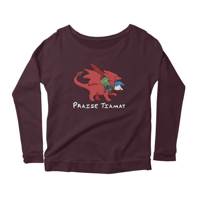 Praise Tiamat Women's Scoop Neck Longsleeve T-Shirt by DnDoggos's Artist Shop