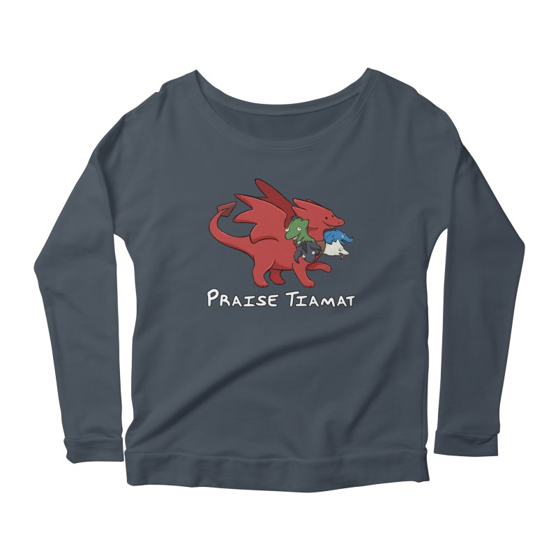 Praise Tiamat Women's Scoop Neck Longsleeve T-Shirt by DnDoggos's Artist Shop