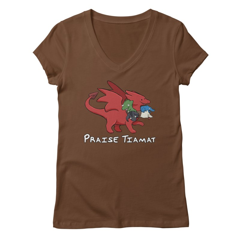 Praise Tiamat Women's Regular V-Neck by DnDoggos's Artist Shop