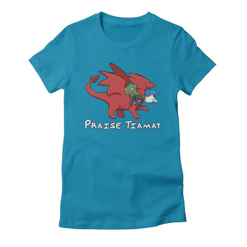 Praise Tiamat Women's Fitted T-Shirt by DnDoggos's Artist Shop