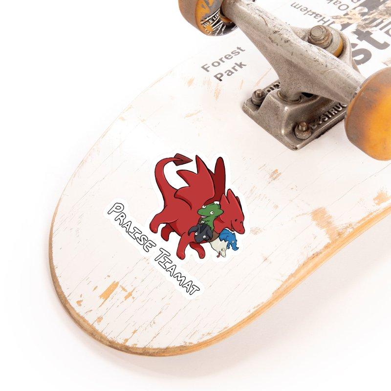 Praise Tiamat Accessories Sticker by DnDoggos's Artist Shop