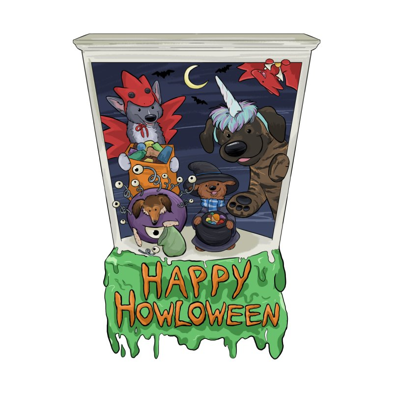 Happy Howloween Home Mounted Acrylic Print by DnDoggos's Artist Shop