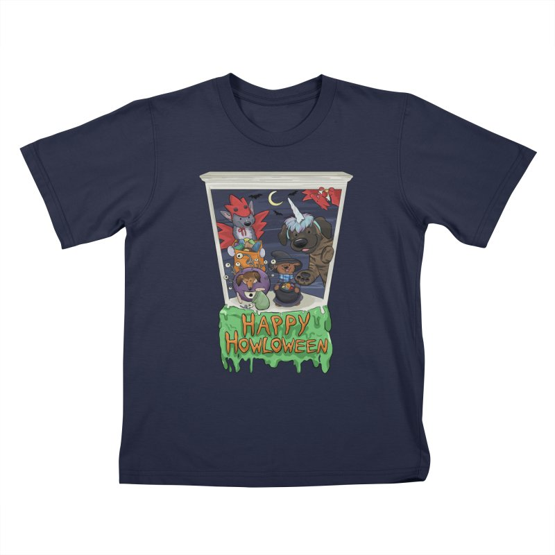 Happy Howloween Kids T-Shirt by DnDoggos's Artist Shop