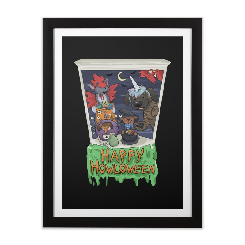 Happy Howloween Home Framed Fine Art Print by DnDoggos's Artist Shop