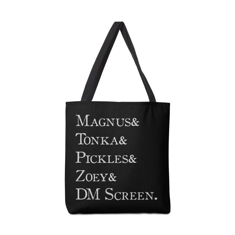 Magnus&Tonka&Pickles&Zoey&DM Screen Accessories Tote Bag Bag by DnDoggos's Artist Shop