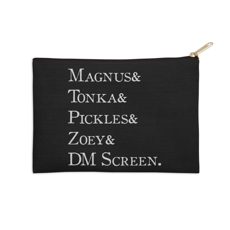 Magnus&Tonka&Pickles&Zoey&DM Screen Accessories Zip Pouch by DnDoggos's Artist Shop
