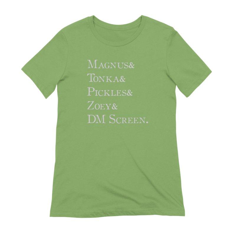 Magnus&Tonka&Pickles&Zoey&DM Screen Women's T-Shirt by DnDoggos's Artist Shop