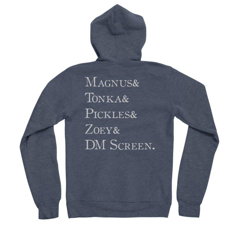 Magnus&Tonka&Pickles&Zoey&DM Screen Men's Zip-Up Hoody by DnDoggos's Artist Shop
