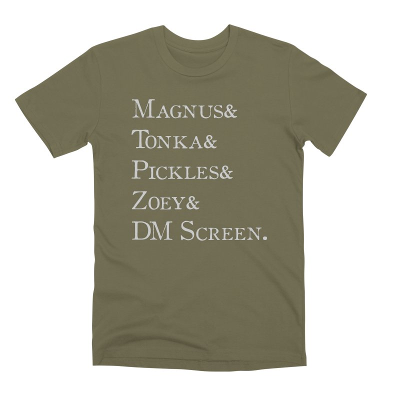 Magnus&Tonka&Pickles&Zoey&DM Screen Men's Premium T-Shirt by DnDoggos's Artist Shop