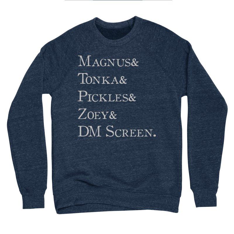 Magnus&Tonka&Pickles&Zoey&DM Screen Men's Sponge Fleece Sweatshirt by DnDoggos's Artist Shop