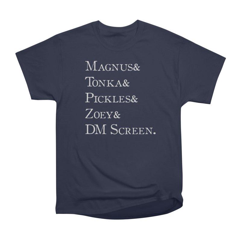 Magnus&Tonka&Pickles&Zoey&DM Screen Men's Heavyweight T-Shirt by DnDoggos's Artist Shop