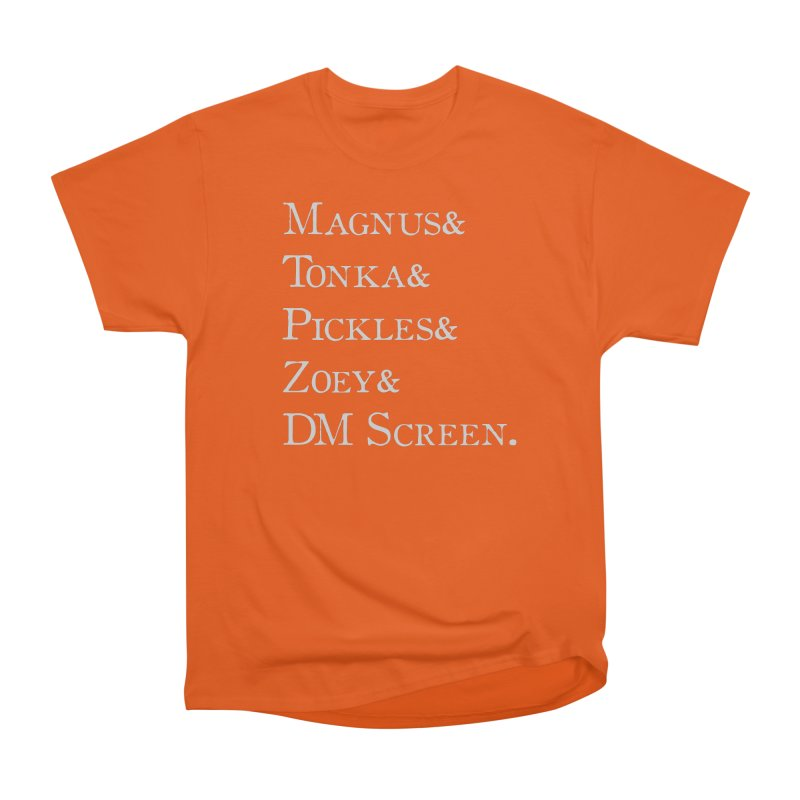 Magnus&Tonka&Pickles&Zoey&DM Screen Women's Heavyweight Unisex T-Shirt by DnDoggos's Artist Shop