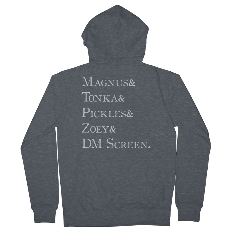 Magnus&Tonka&Pickles&Zoey&DM Screen Women's French Terry Zip-Up Hoody by DnDoggos's Artist Shop