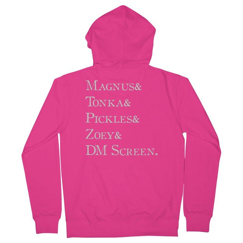 Magnus&Tonka&Pickles&Zoey&DM Screen Men's French Terry Zip-Up Hoody by DnDoggos's Artist Shop