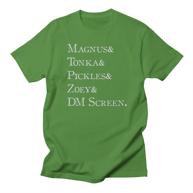 Magnus&Tonka&Pickles&Zoey&DM Screen Men's Regular T-Shirt by DnDoggos's Artist Shop