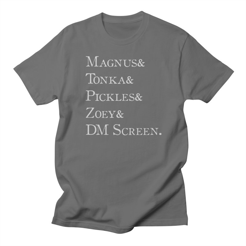Magnus&Tonka&Pickles&Zoey&DM Screen Men's T-Shirt by DnDoggos's Artist Shop