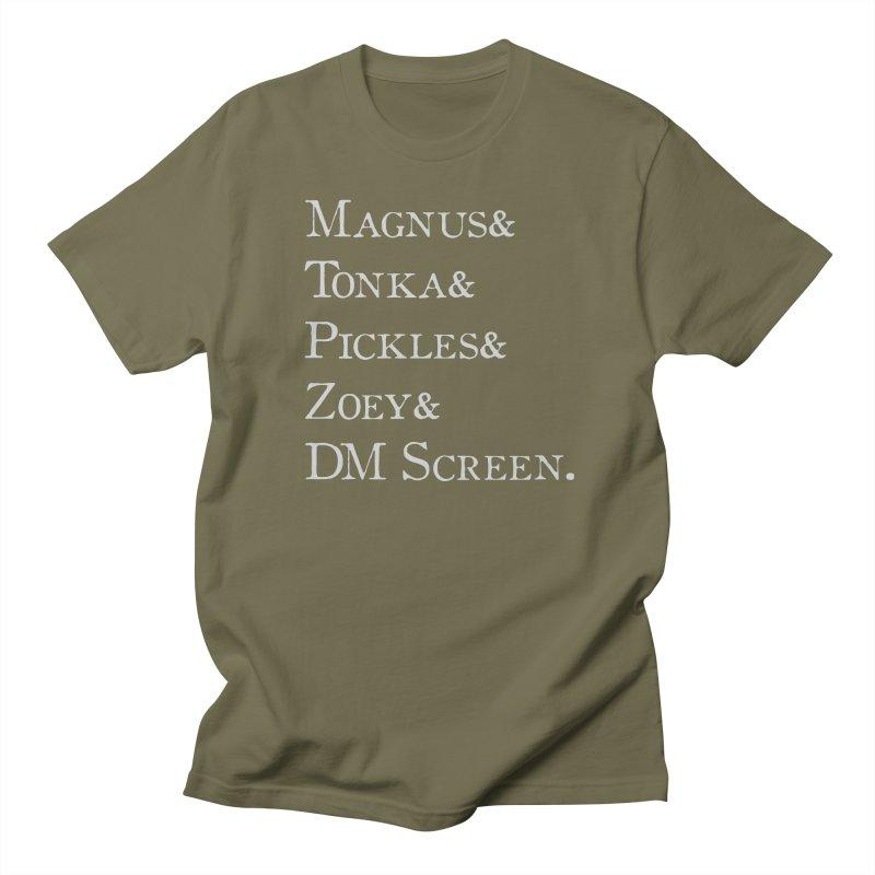 Magnus&Tonka&Pickles&Zoey&DM Screen Women's Regular Unisex T-Shirt by DnDoggos's Artist Shop