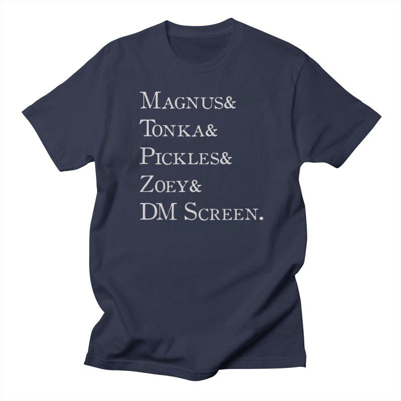 Magnus&Tonka&Pickles&Zoey&DM Screen Men's Regular T-Shirt by DnDoggos's Artist Shop