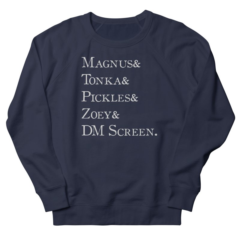 Magnus&Tonka&Pickles&Zoey&DM Screen Men's Sweatshirt by DnDoggos's Artist Shop
