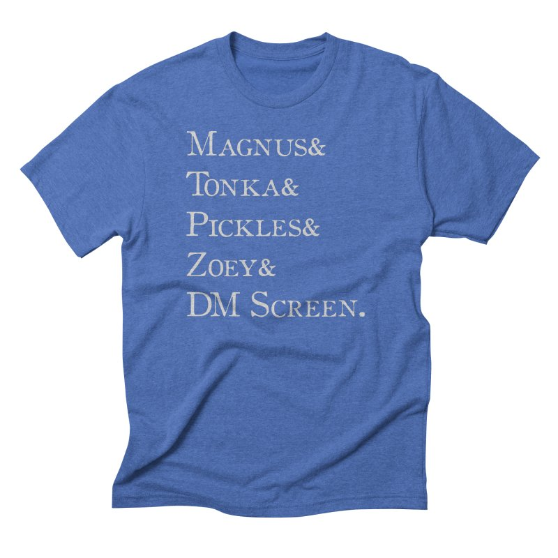Magnus&Tonka&Pickles&Zoey&DM Screen Men's T-Shirt by DnDoggos's Artist Shop
