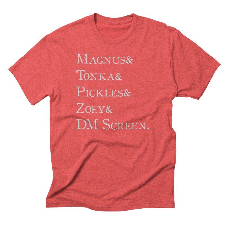 Magnus&Tonka&Pickles&Zoey&DM Screen Men's Triblend T-Shirt by DnDoggos's Artist Shop