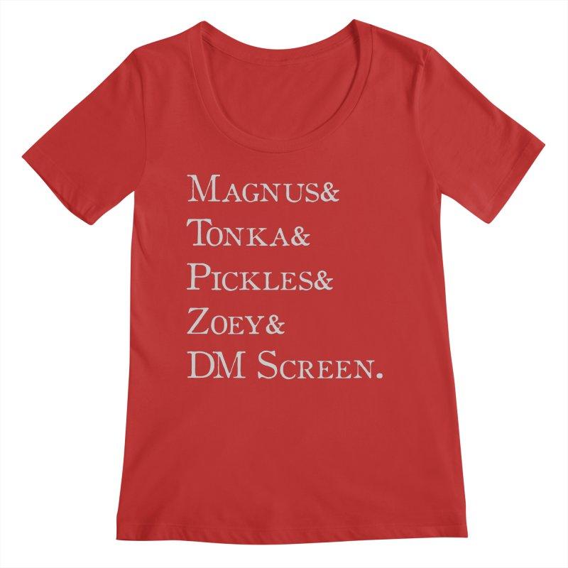 Magnus&Tonka&Pickles&Zoey&DM Screen Women's Regular Scoop Neck by DnDoggos's Artist Shop