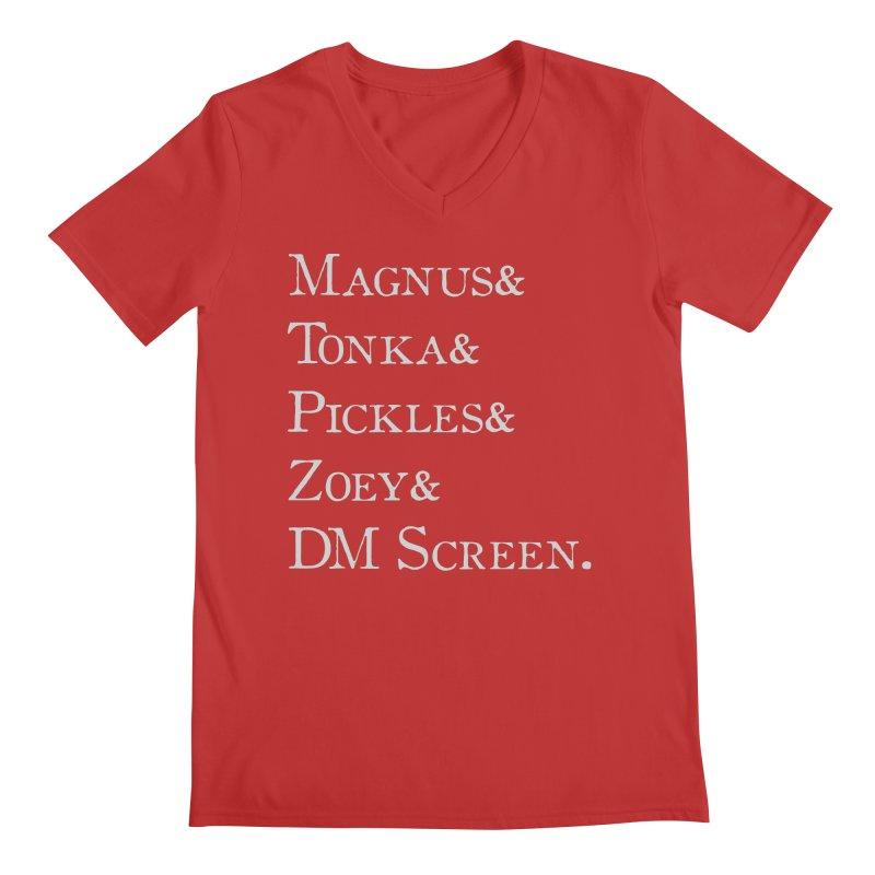 Magnus&Tonka&Pickles&Zoey&DM Screen Men's V-Neck by DnDoggos's Artist Shop